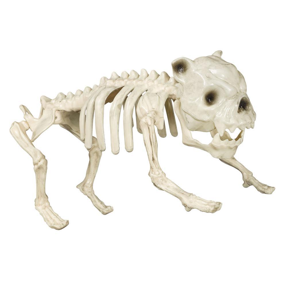 9.25 in. Halloween Cemetery Skeleton Dog