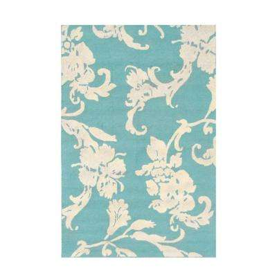Toulouse Blue 5 ft. x 8 ft. Indoor Area Rug