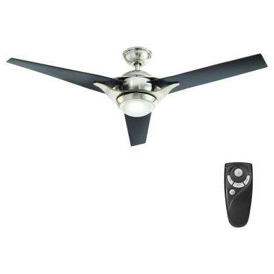 Simpkins 56 in. LED Indoor Brushed Nickel Ceiling Fan with Light Kit and Remote Control