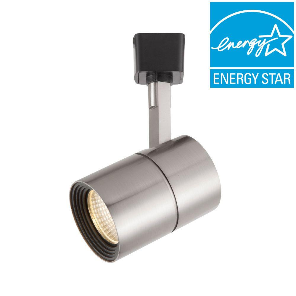 Hampton Bay Brushed Nickel Dimmable Led