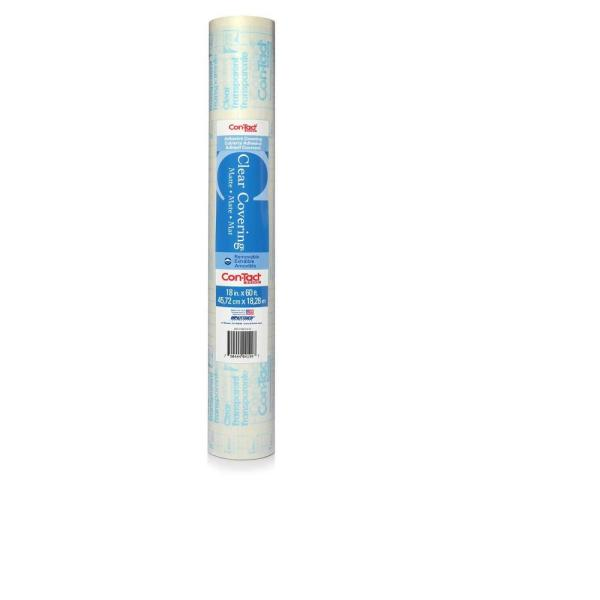 Con-Tact Clear Covering Matte Clear Adhesive Shelf and Drawer Liner