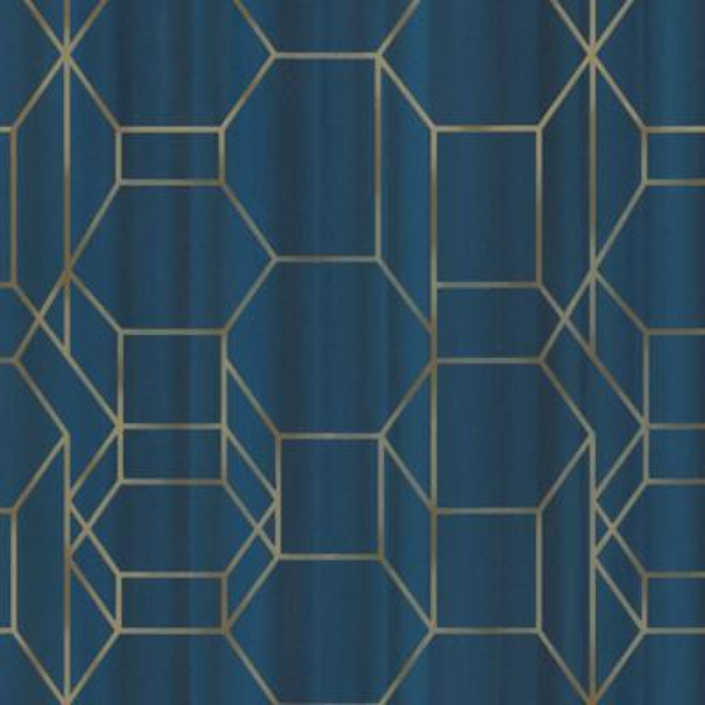 Royal Blue & Gold Modern Dimensional Chain Link