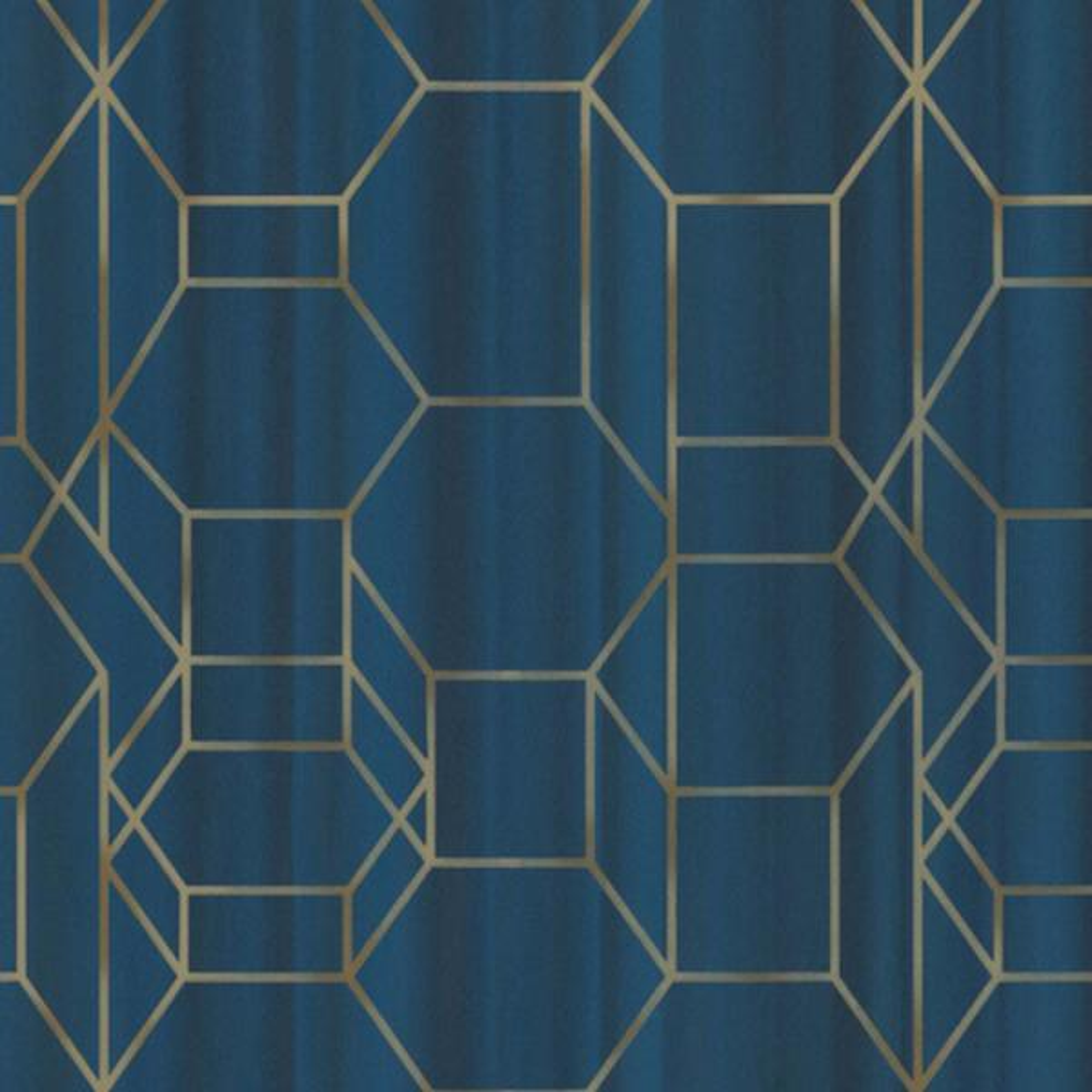 Walls Republic Royal Blue & Gold Modern Dimensional Chain Link