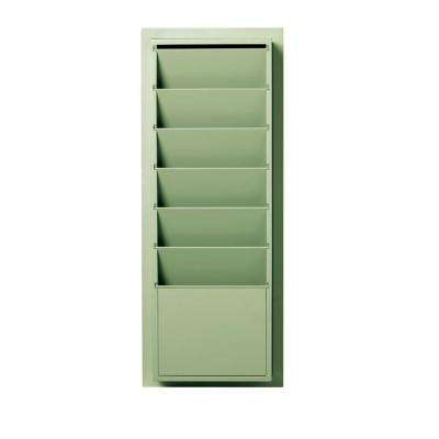 Craft Space 33 in. H x 13 in. W 6-Slot Magazine/File Storage in Rhododendron Leaf
