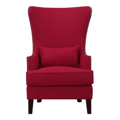 Prime Wingback Chair Red Fabric Accent Chairs Chairs The Ocoug Best Dining Table And Chair Ideas Images Ocougorg