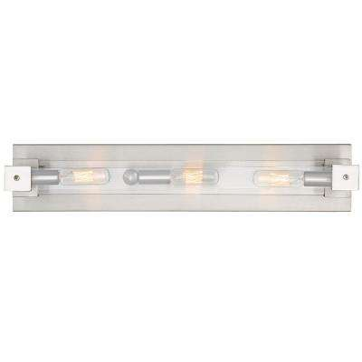 Halcyon 3-Light Satin Nickel Bath Light