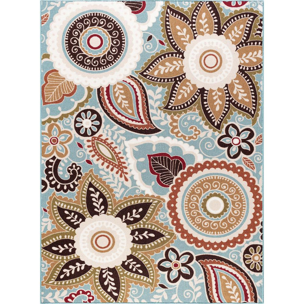 Tayse Rugs Majesty Seafoam 4 Ft X 5 Ft Area Rug Mjs1313 4x6 The
