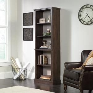 New Grange Coffee Oak 5-Shelf Bookcase