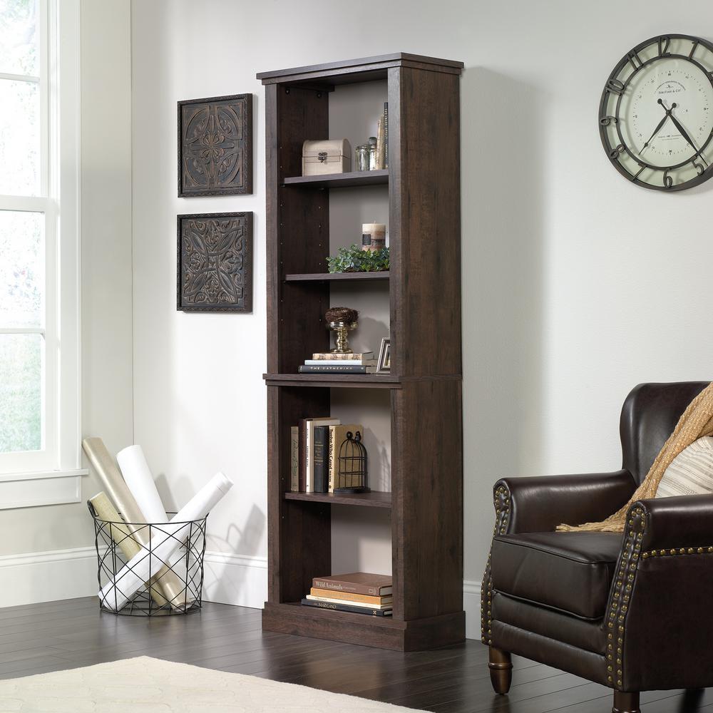 New Grange Coffee Oak 5-Shelf Bookcase