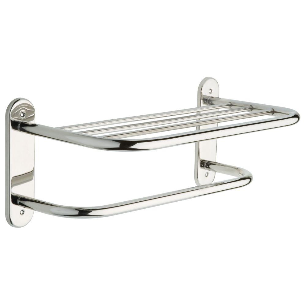 Franklin Br Align Lock 18 In Towel Shelf With Bar Bright Stainless