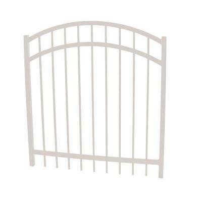 Vinnings 4 ft. W x 5 ft. H White Aluminum Arched Fence Gate