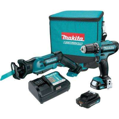 12-Volt MAX CXT Lithium-Ion Cordless Recip Saw/Drill Combo Kit (2-Piece) with (2) 2.0Ah Batteries, Charger, Tool Bag