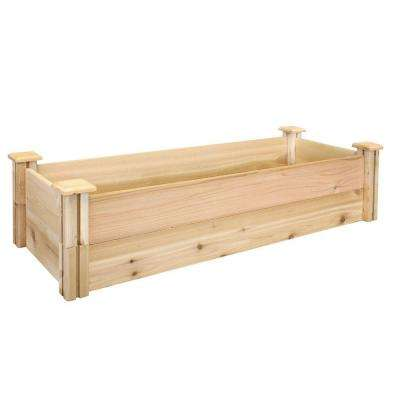 16 in. x 48 in. x 11 in. Premium Cedar Raised Garden Bed