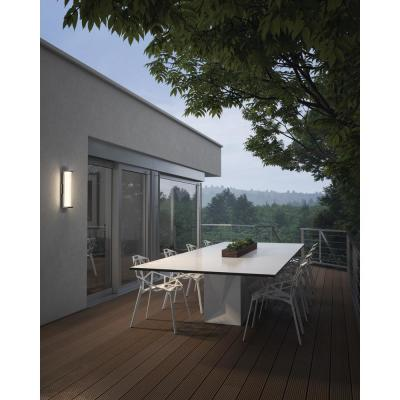 Altron 1-Light Polished Stainless Steel Outdoor 13.25 in. Integrated LED Wall Lantern Sconce