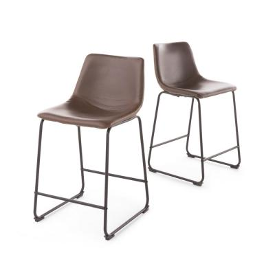 Cedric 24 in. Brown Vintage Counter Stool (Set of 2)