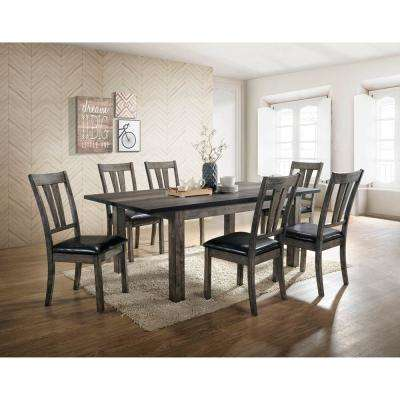 Drexel 7-Piece Gray Dining Set with 6 Cushioned Chairs