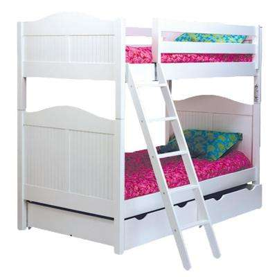 Cottage White Twin Over Bunk Bed