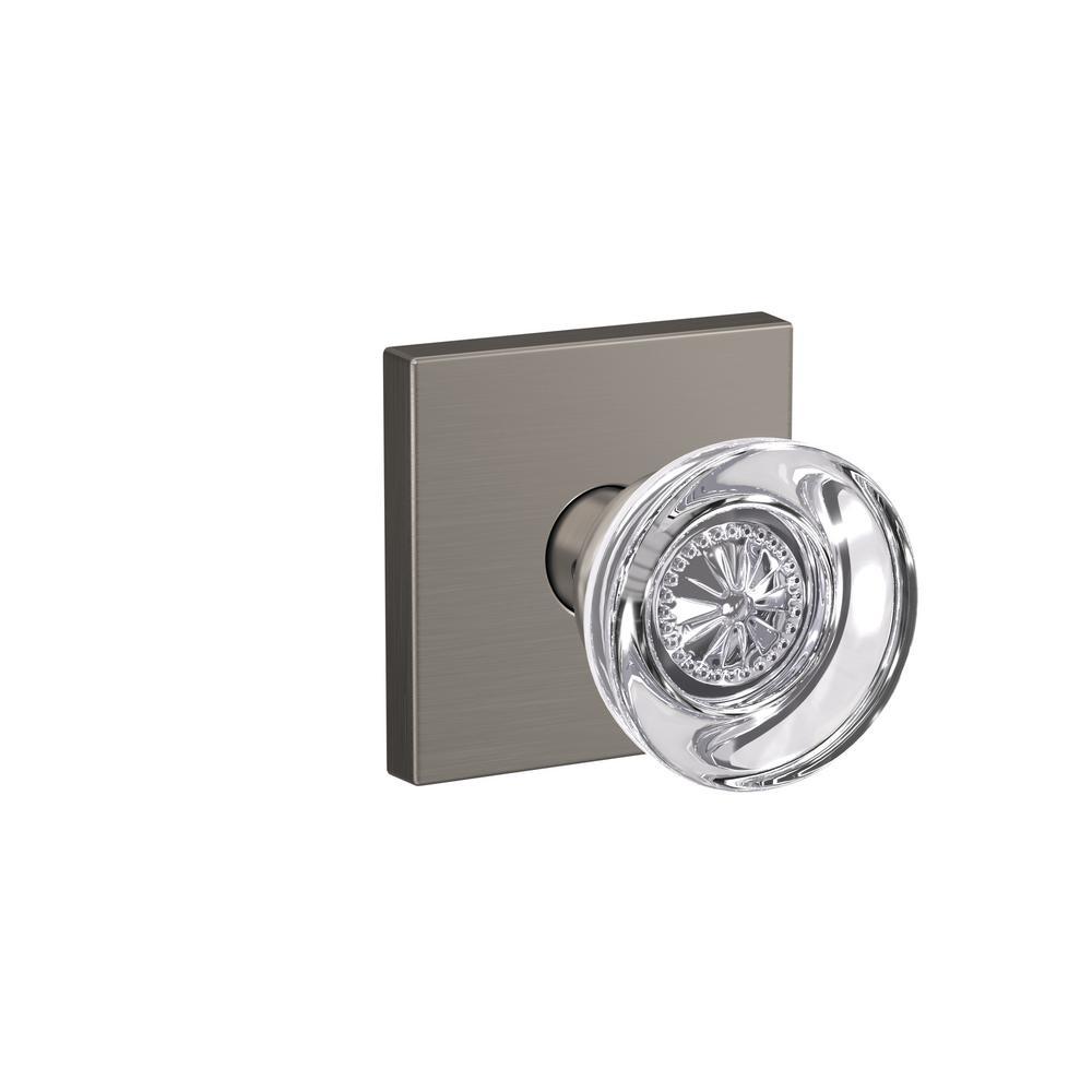 Custom Hobson Satin Nickel Collins Trim Combined Interior Glass Door Knob