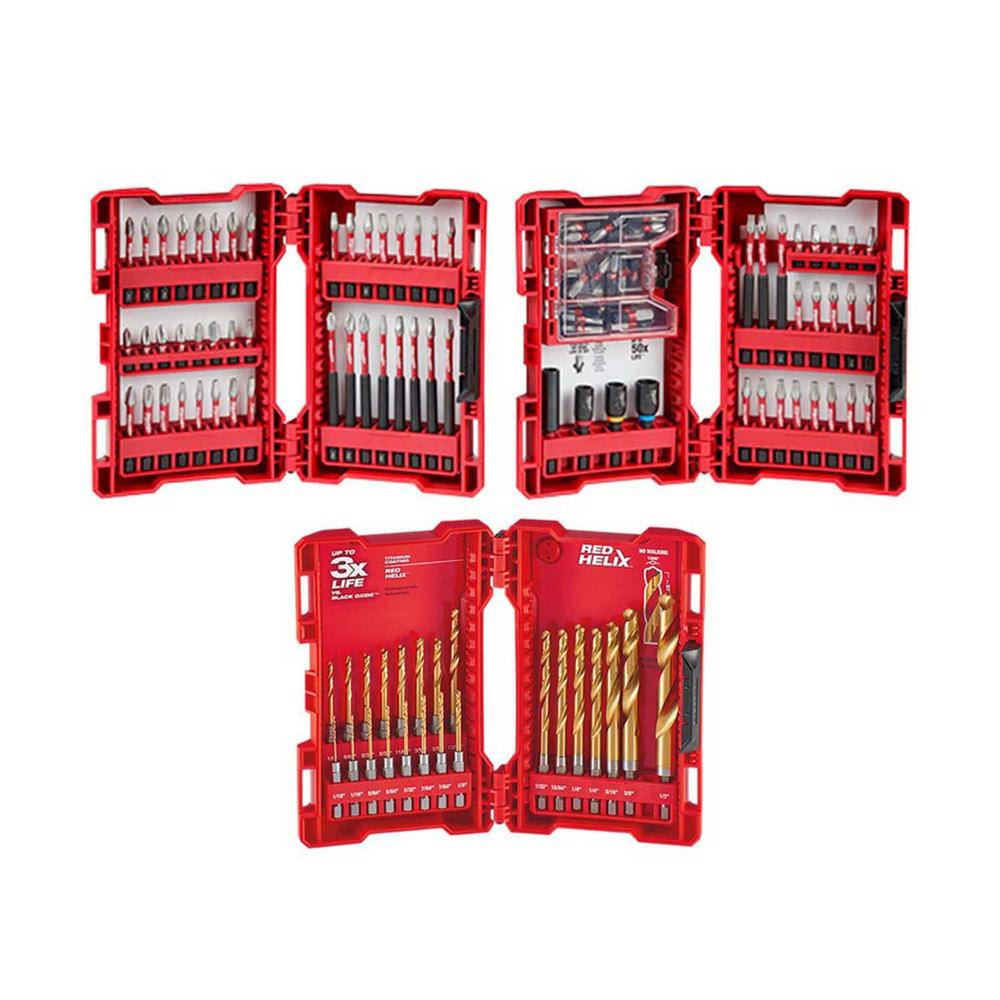 Milwaukee SHOCKWAVE Impact Duty Alloy Steel Drill and Driver Bit Set and Impact-Duty Titanium Drill Bit Set (123-Piece) was $113.97 now $54.97 (52.0% off)