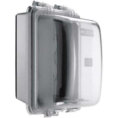 2 Gang Weather Box with Horizontal and Vertical Mount - Gray
