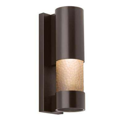 Moon Dance 18 in. Bronze Outdoor LED Sconce