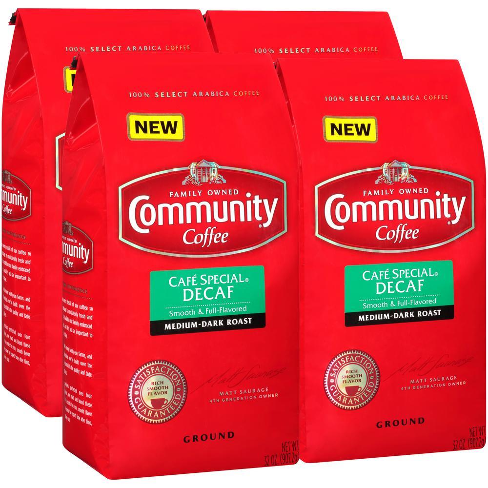 32 oz. Cafe Special Decaffeinated Medium-Dark Roast Ground Coffee (4-Pack)
