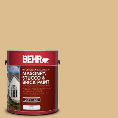 1 gal. #MS-28 Moccasin Satin Interior/Exterior Masonry, Stucco and Brick Paint