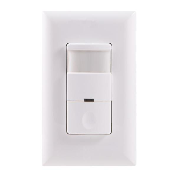 Motion-Sensing Switch with Automatic Shut-Off Feature, White