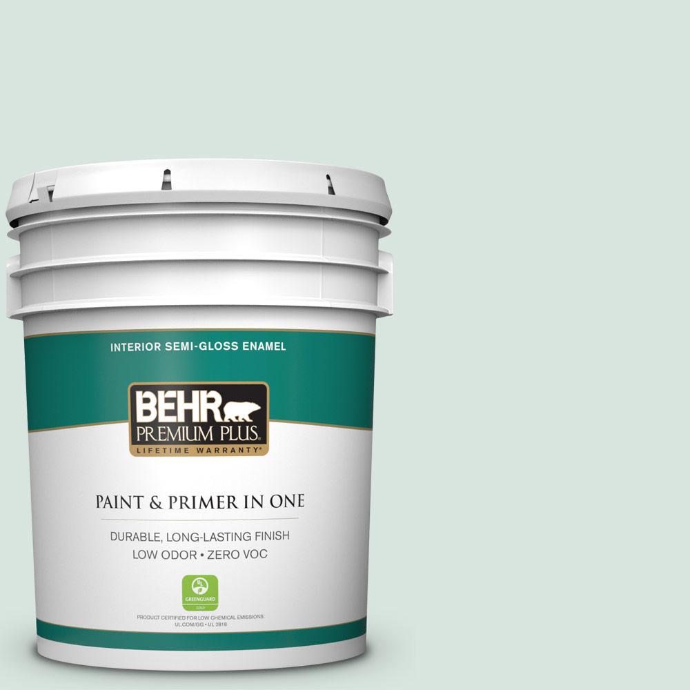 BEHR Premium Plus 5-gal. #S420-1 New Day Semi-Gloss Enamel Interior Paint