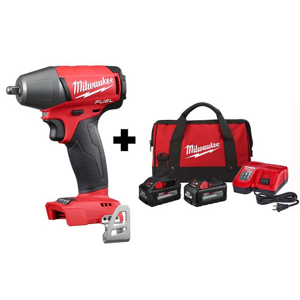 Milwaukee M18 FUEL 18-Volt Lithium-Ion Brushless Cordless 3/8 in. Impact Wrench with Friction Ring with 8.0 Ah, 6.0 Ah Battery was $478.0 now $299.0 (37.0% off)