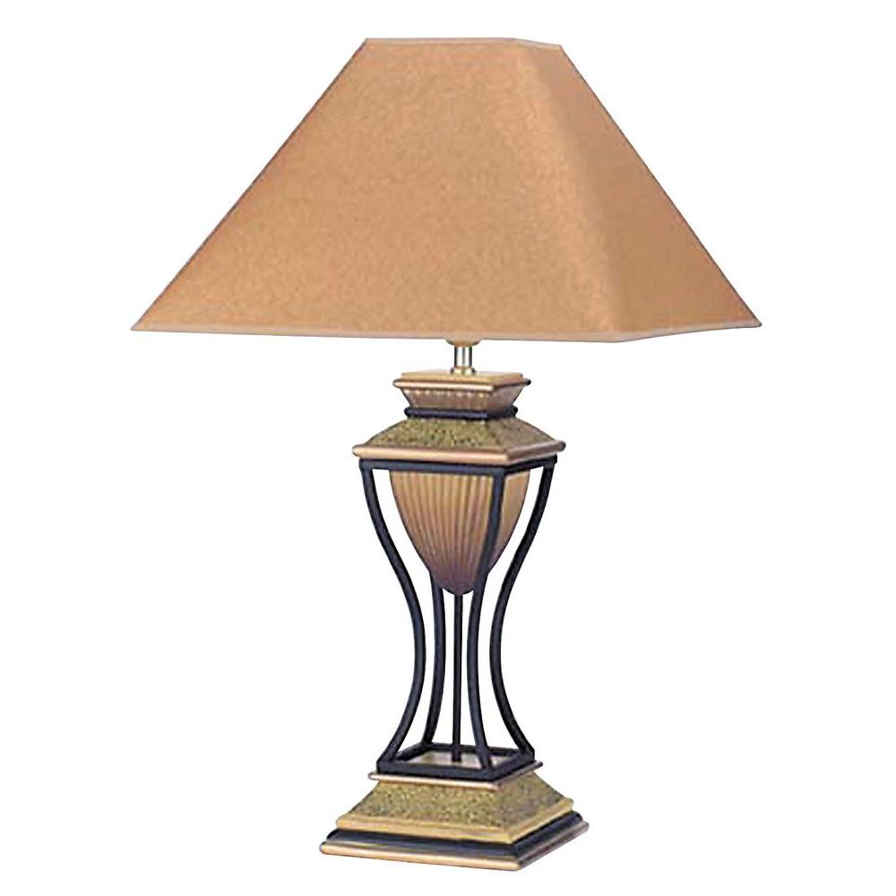 Ore International Home Deco 32 In Antique Bronze Table Lamp 8008
