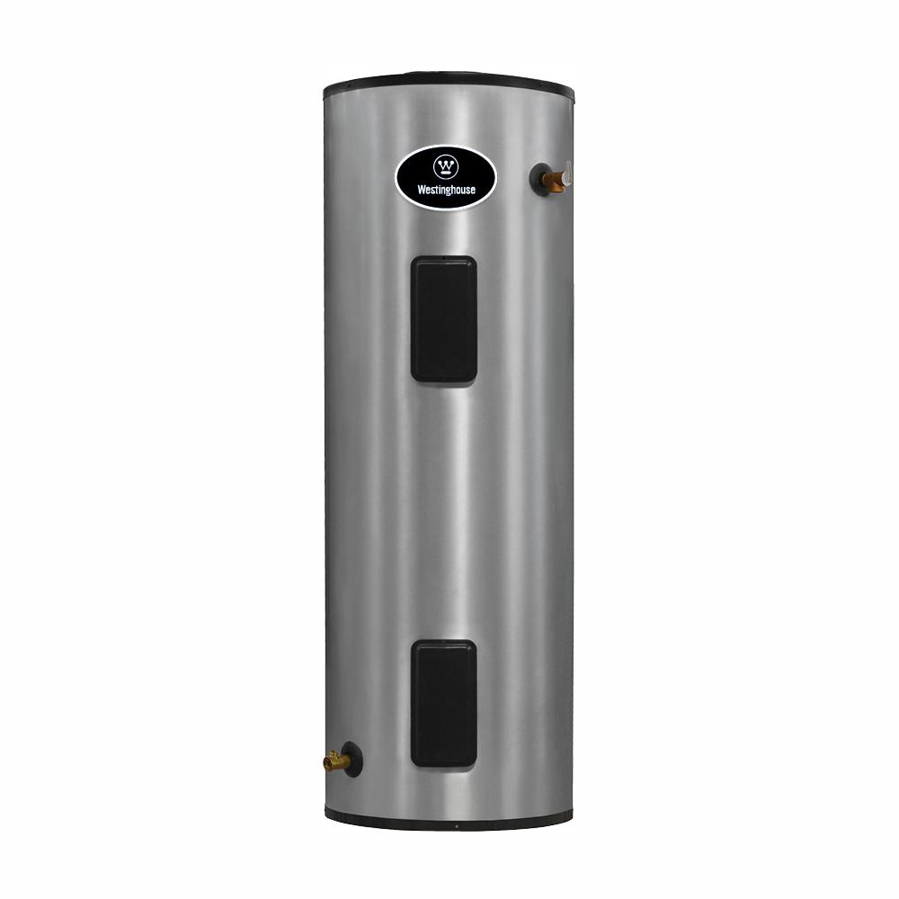 Westinghouse 80 Gal Lifetime 4500 Watt Electric Water Heater With Durable 316 L Stainless Steel Tank Wec080c2x045 The Home Depot
