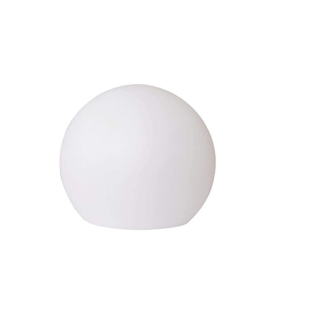 12 in. White Multicolor Outdoor Globe Flat Bottom Lamp