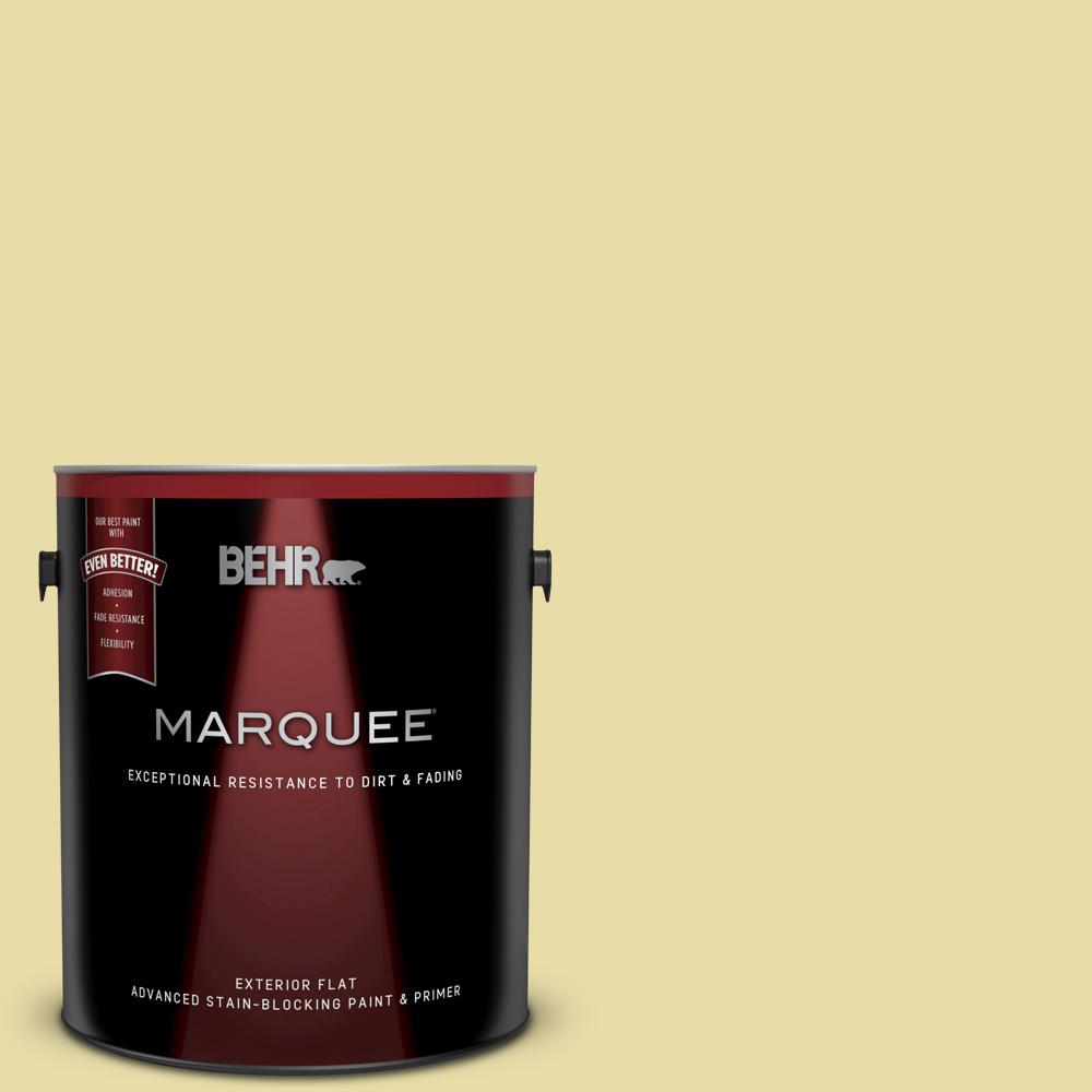 Behr Marquee 1 Gal P350 3 Green Charm Flat Exterior Paint And Primer In One 445001 The Home Depot