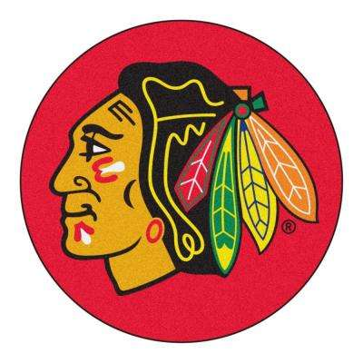Chicago Blackhawks Red 2 ft. x 2 ft. Round Area Rug