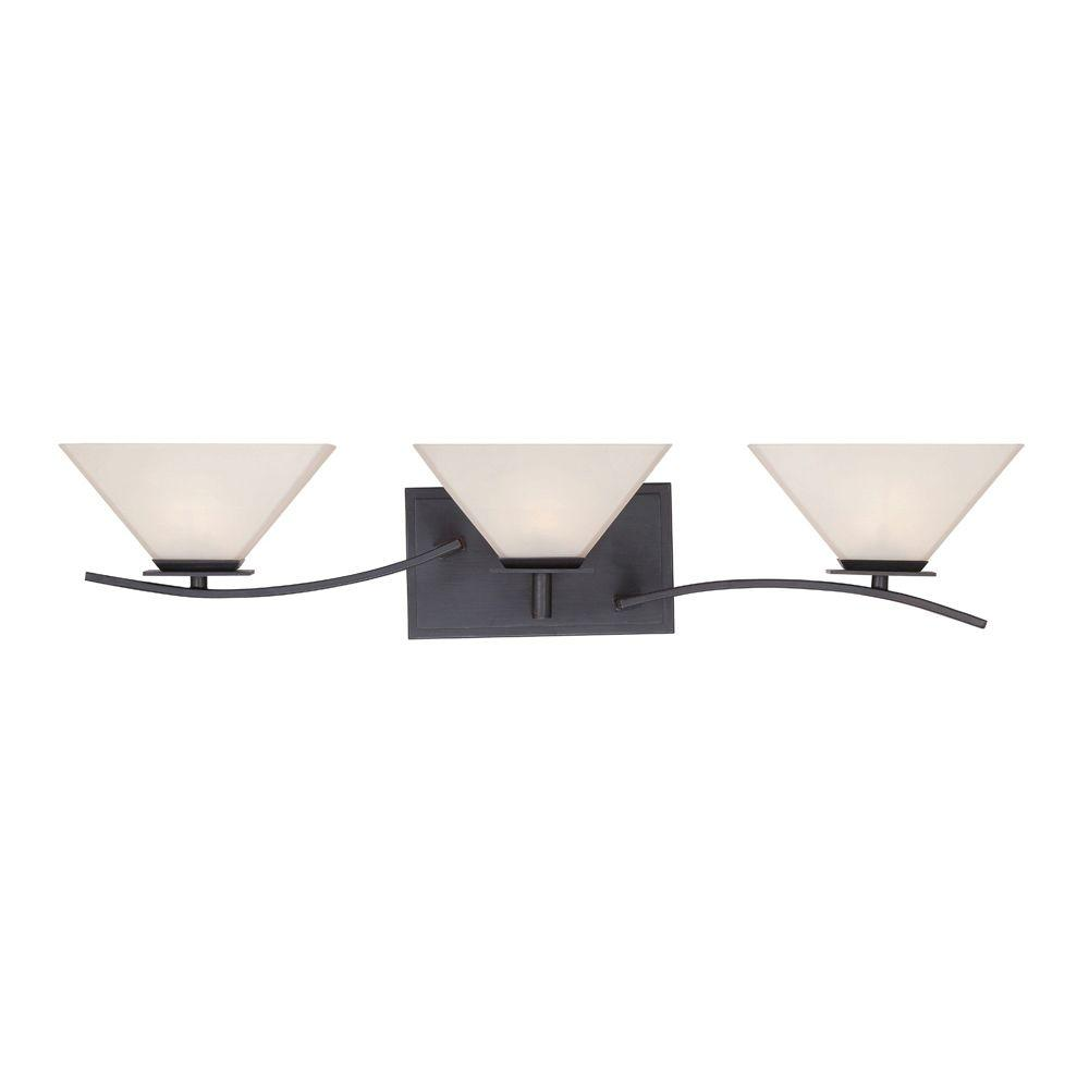 Hyland 3-Light Biscayne Bronze Bath Bar Light