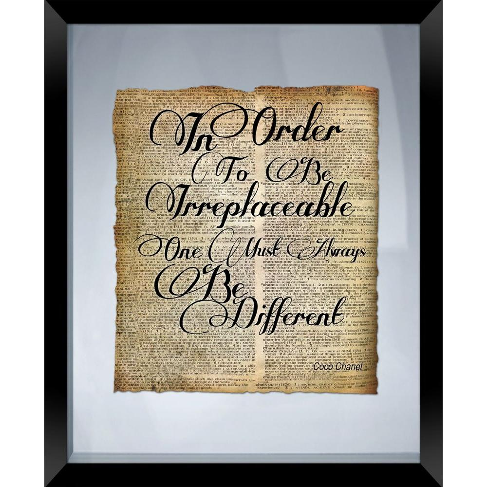 "PTM Images 22 in. x 18 in. ""Be Different"" Framed Wall Art"