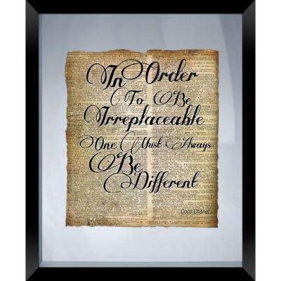 "22 in. x 18 in. ""Be Different"" Framed Wall Art"