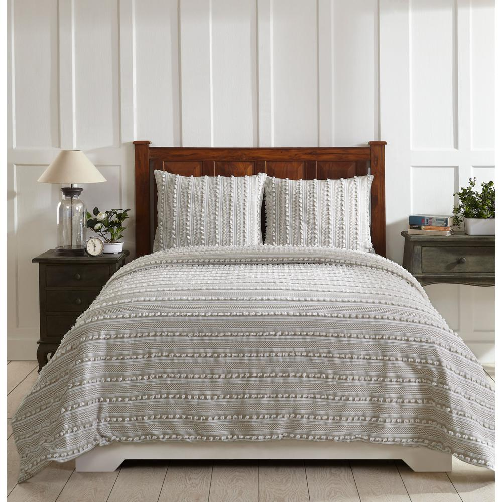 Better Trends Anglique Taupe Twin Comforter-SS-QUANTWTU