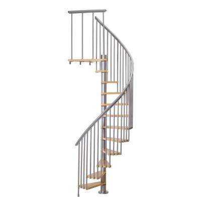 Calgary Grey 55 in. Dia 2 Extra Baluster Stair Kit 110 in. High
