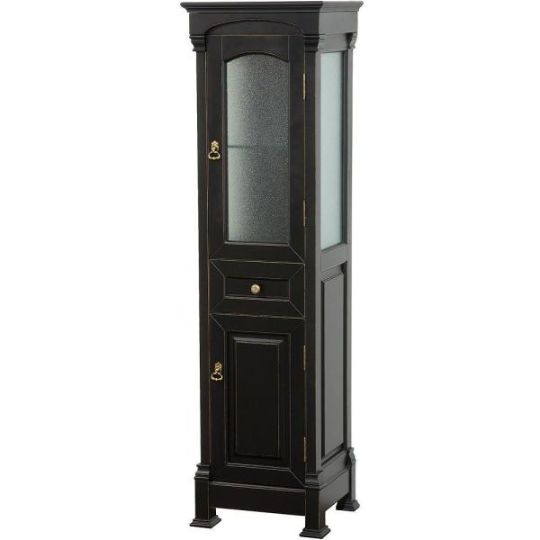 Andover 18 in. W x 16 in. D x 65 in. H Bathroom Linen Storage Tower Cabinet in Antique Black