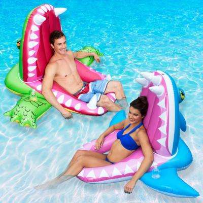 Shark and Alligator Eaten Alive Pool Float (2-Pack)