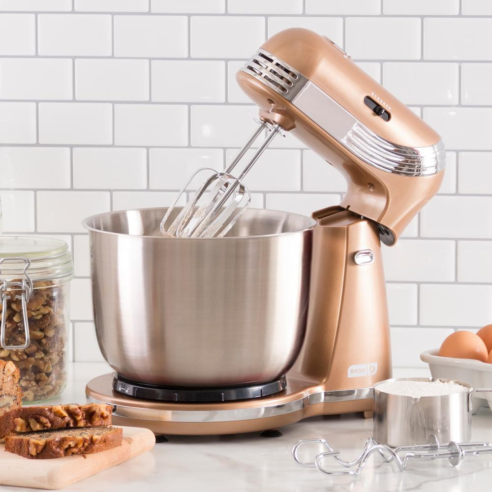Dash Everyday 3 Qt Copper 6 Speed Stand Mixer Dcsm250cu The Home