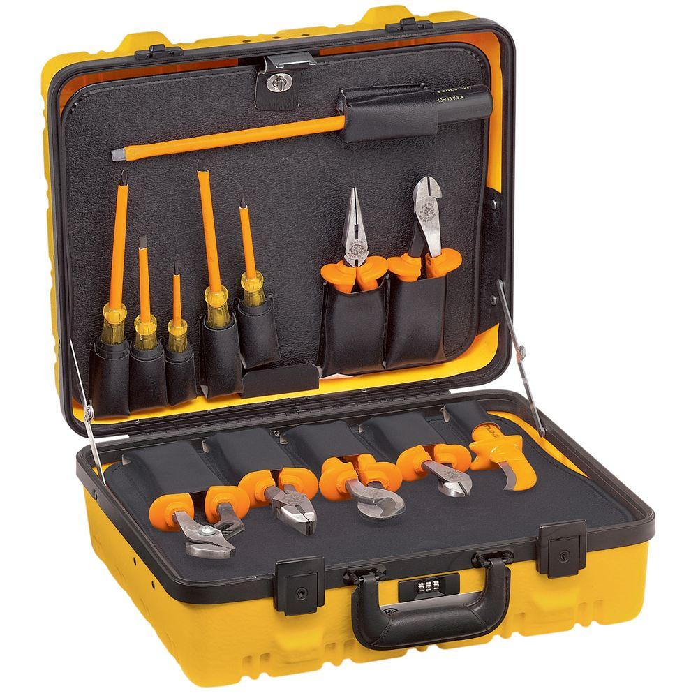 klein tools 13 piece insulated tool utility kit 33525 the home depot. Black Bedroom Furniture Sets. Home Design Ideas