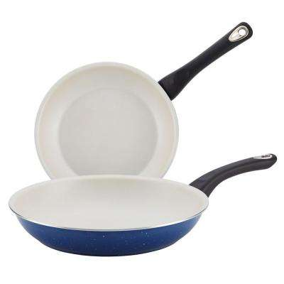 New Traditions Aluminum Stovetop Skillet Set With Nonstick Coating