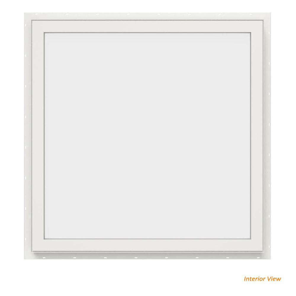 JELD-WEN 29.5 in. x 29.5 in. V-4500 Series White Vinyl Picture Window w/ Low-E 366 Glass