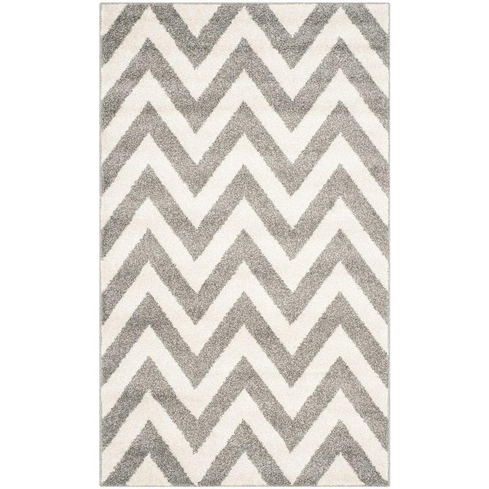 Safavieh Amherst Dark Gray/Beige 2 ft. 6 in. x 4 ft. Indoor/Outdoor Area Rug
