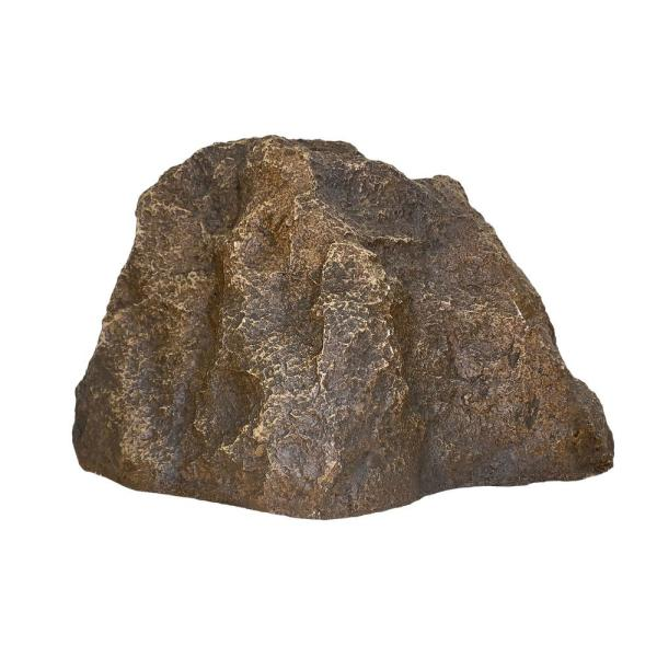 Backyard X Scapes 9 In X 13 In X 16 In Small Fiberglass Decorative Artificial Rock Cover For Garden Landscape In River Brown Knt Rb1 The Home Depot