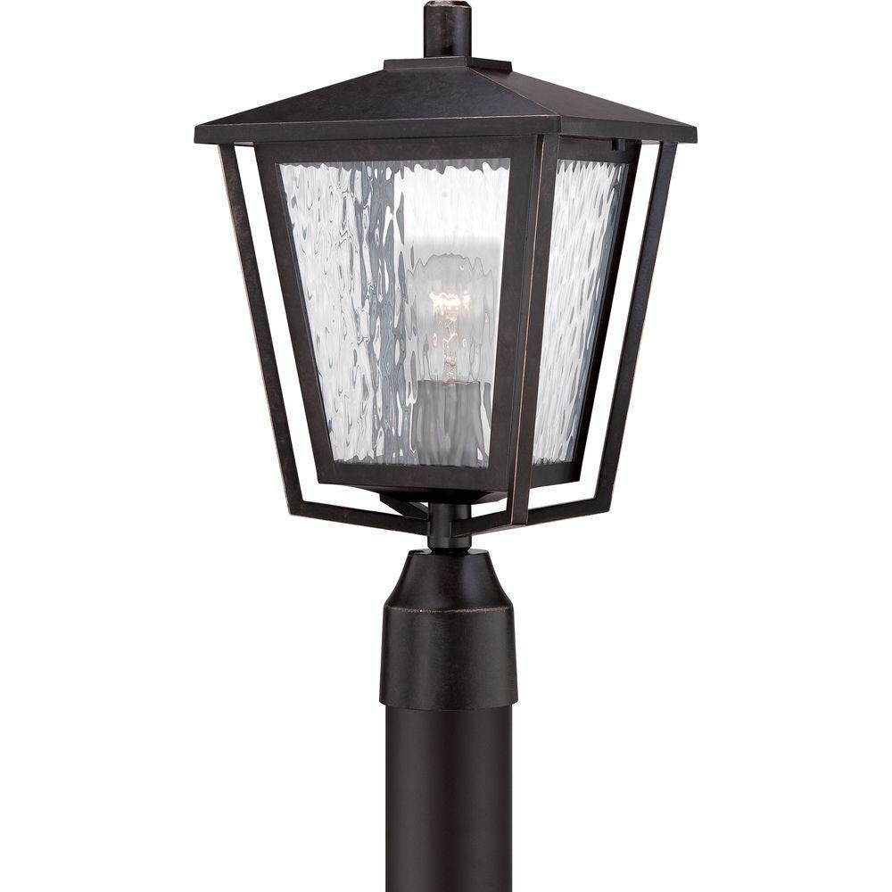 Filament Design Monroe 1-Light Outdoor Imperial Bronze Incandescent Post Lantern Light