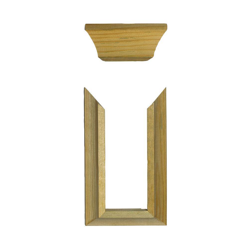 Pressure-Treated Wood Rail Trim (4-Pack)